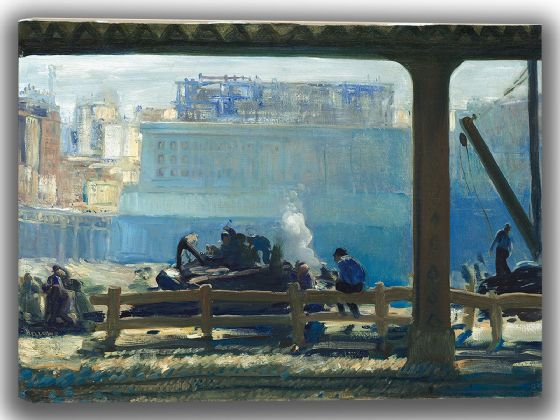 Bellows, George Wesley: Blue Morning. Fine Art Canvas. Sizes: A4/A3/A2/A1 (004052)